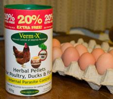 verm-x with eggs